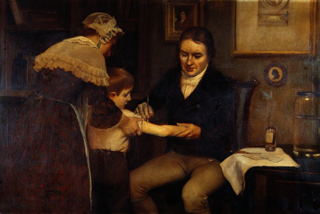 Dr_Jenner_performing_his_first_vaccination,_1796_Wellcome_M0000144